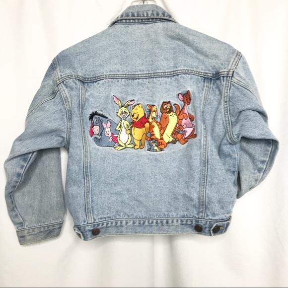 Disney Jackets & Blazers - 90's Disney Winnie The Pooh Friends Jean Jacket